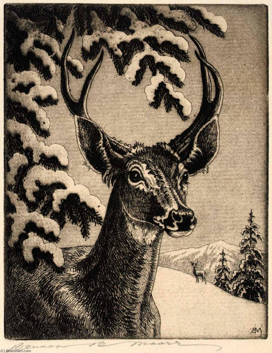 Famous Deer Paintings : famous, paintings, Virginia, Benson, Moore, Reproductions, Most-Famous-Paintings