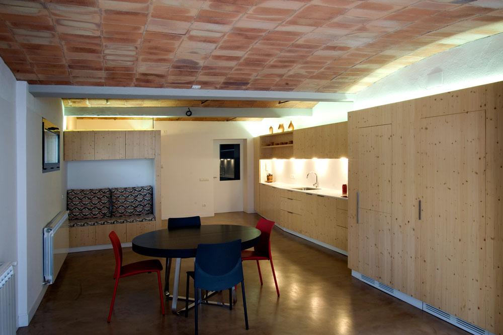 El Poal - Interior, cuina i menjador