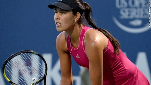 STANFORD, CA - AUGUST 01: Ana Ivanovic of Serbia plays against Serena Williams of the United States of America during Day 5 of the Bank of the West Classic at the Taube Family Tennis Stadiumon August 1, 2014 in Stanford, California. (Photo by Noah Graham/Getty Images)