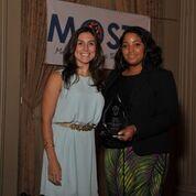 Executive Director Alejandra Valenzuela with Melissa Freeny.