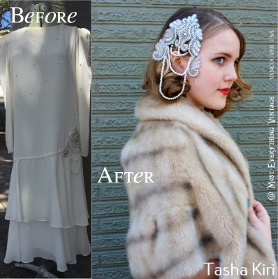 Faux Fur Stole $55, headpiece not available until completed