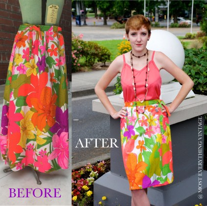 Floral Wrap Skirt (Waist 27 in.) $20