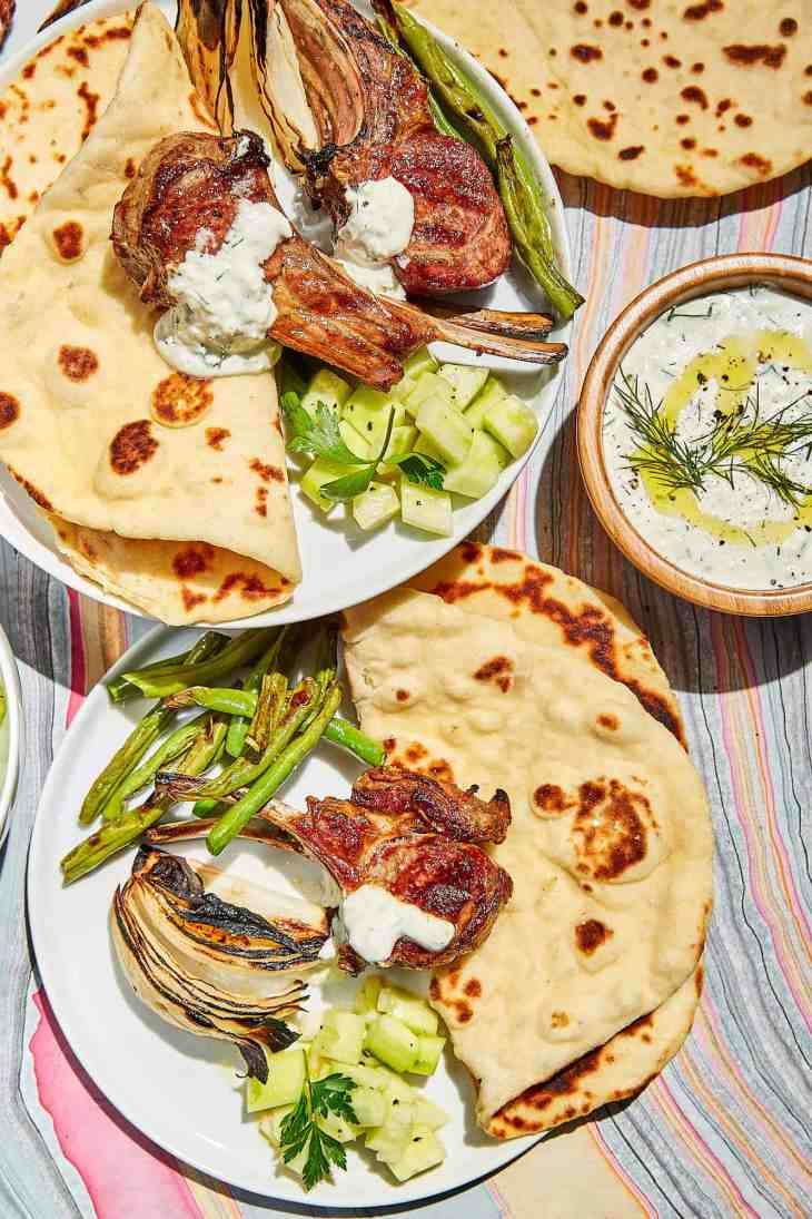 Quick Flatbread and Grilled Lamb