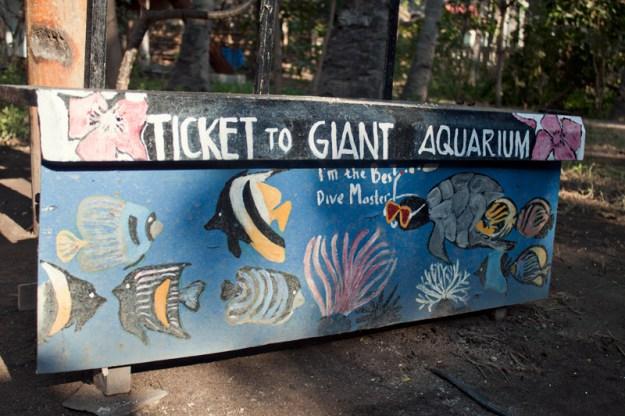 ticket to aquarium