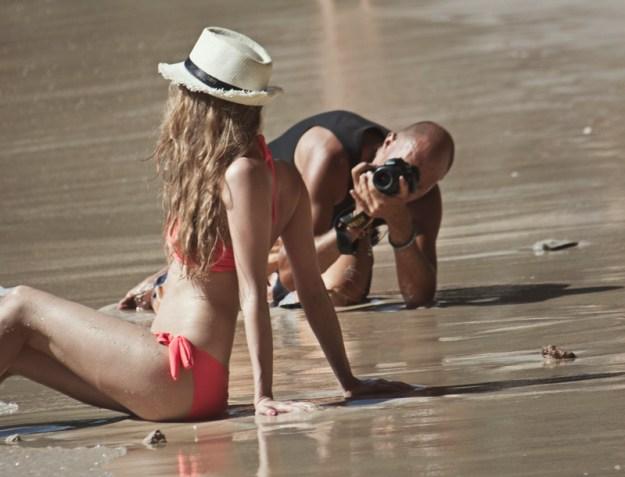 Russian photoshop on Railey Beach, Krabi, Thailand