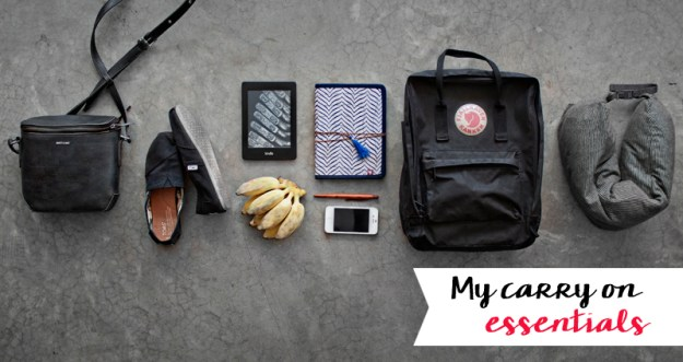 My in flight travel essentians, carry on, what to pack, packlist, travel