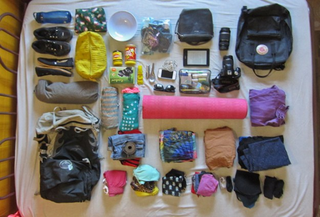 Packing list for a trip through South East Asia