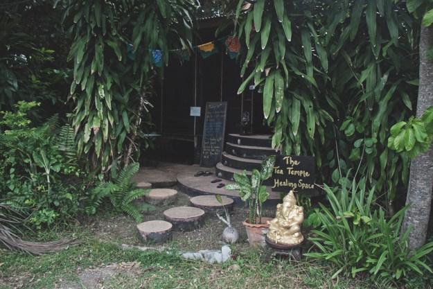 The Tea Templet at The Sanctuary yoga retreat, spa and detox resort in Haad Tien, Koh Phangan, Thailand.