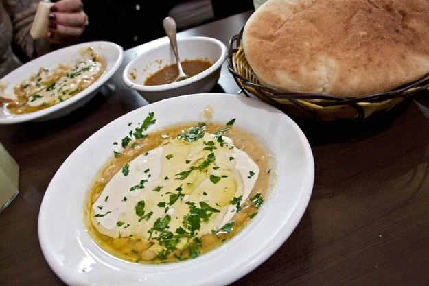 hummus lina - vegan jerusalem