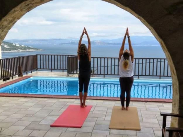 yoga greece at nefeli nine