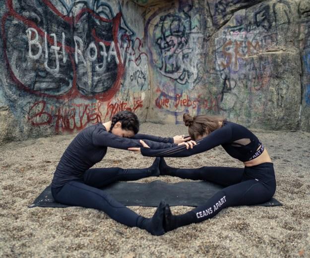 yoga for 2 - partner forward fold