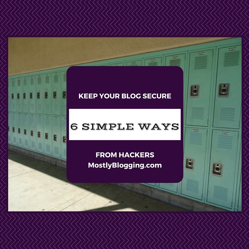 #Blog Security can be a problem for #bloggers