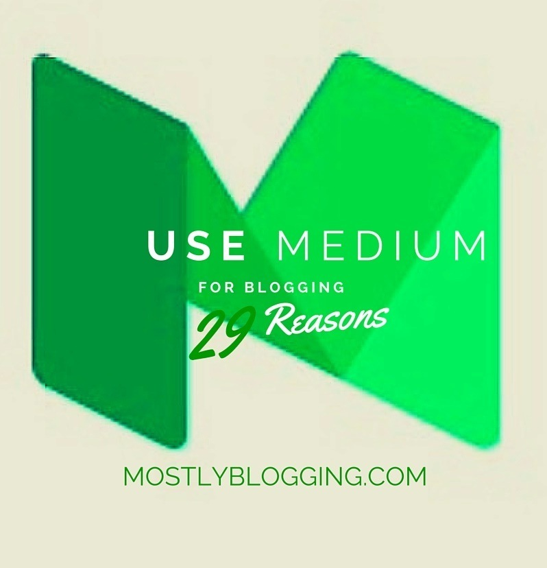 #Bloggers should use Medium