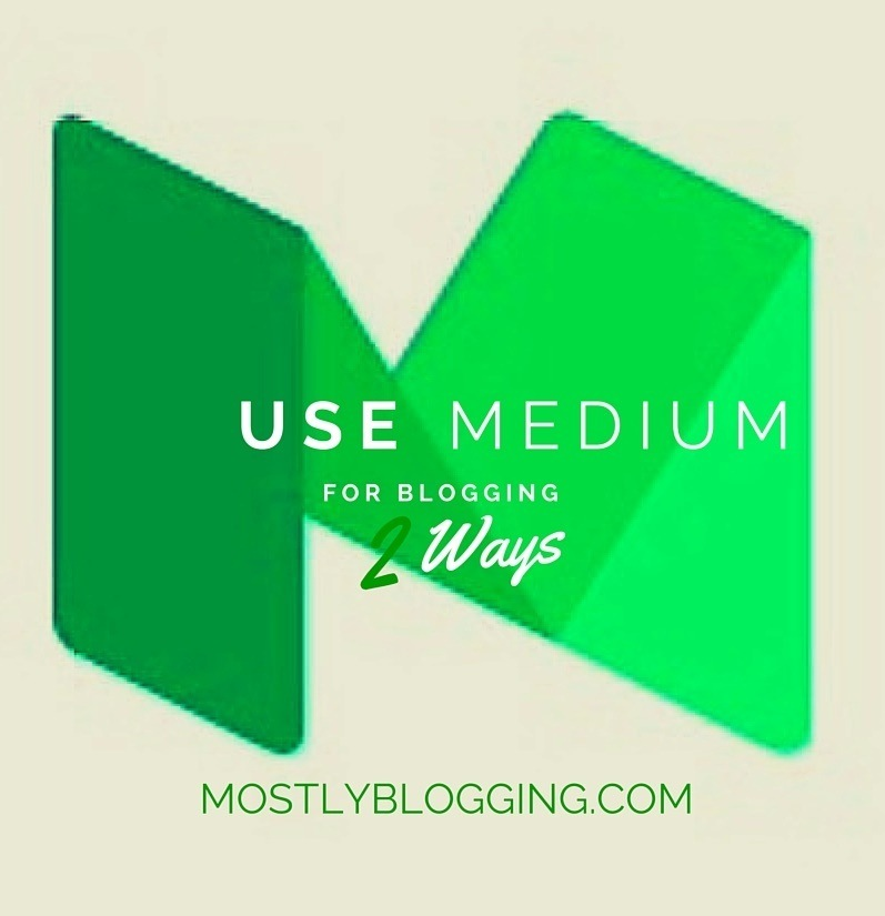Medium gets bloggers blog traffic #blogging