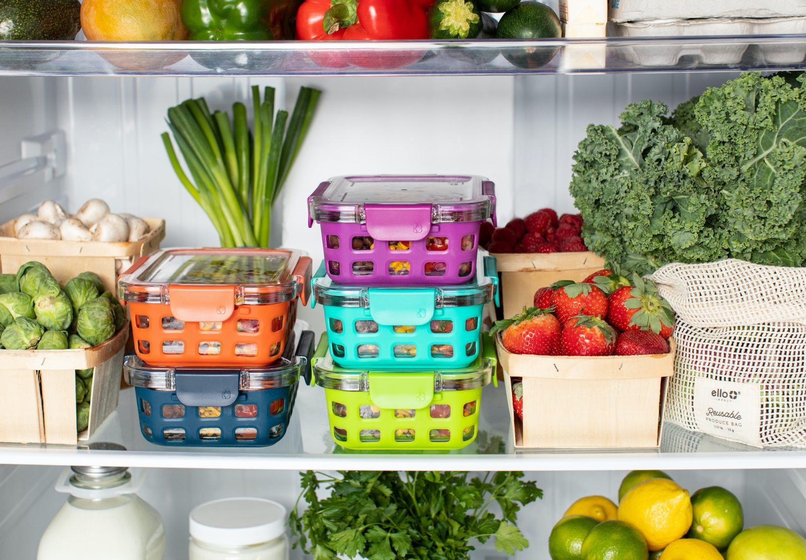 How to Reduce Food Waste   Produce stored in a refrigerator