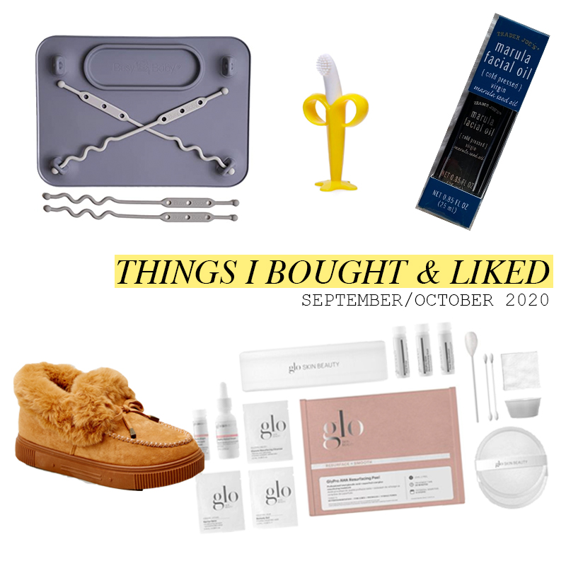Things I Bought & Liked (September/October 2020)