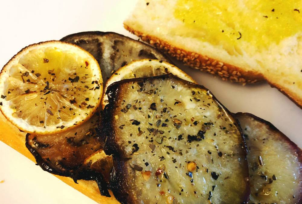 Eggplant and Lemon Sandwich