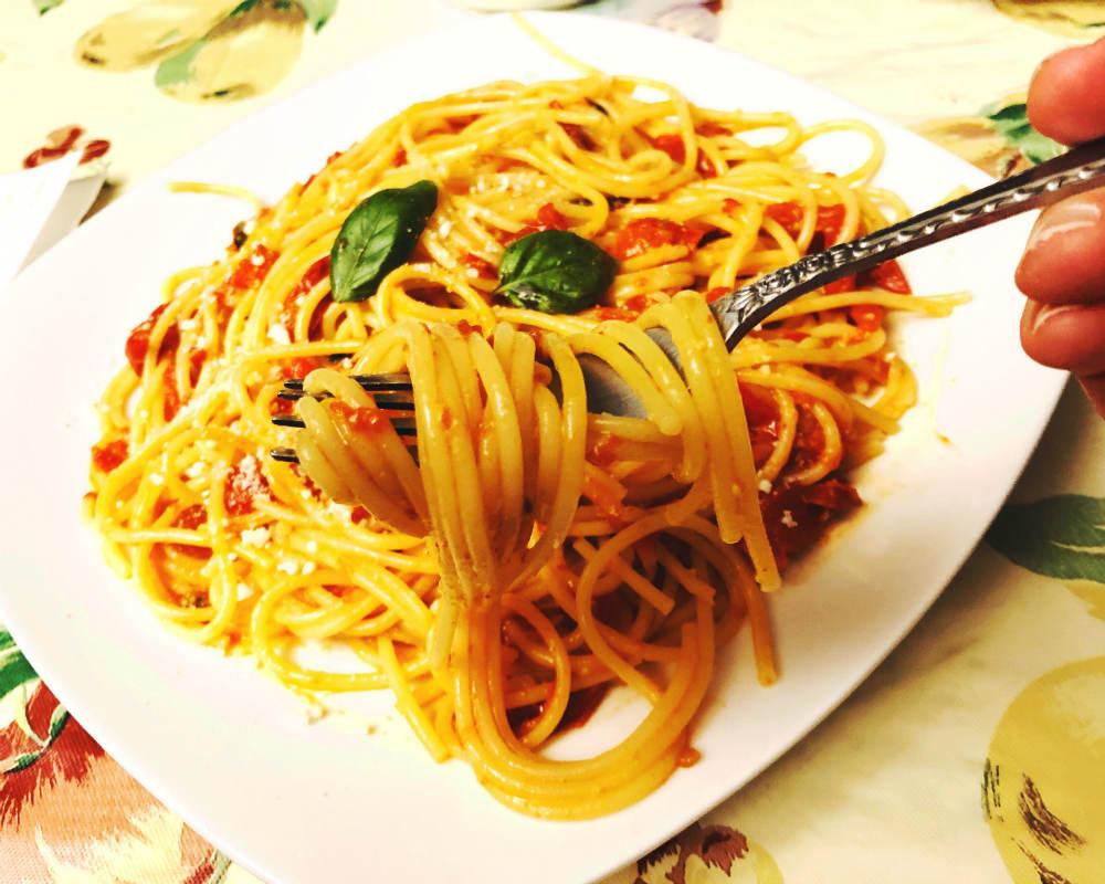 roasted cherry tomato spaghetti