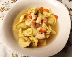 tortellini soup with shrimp