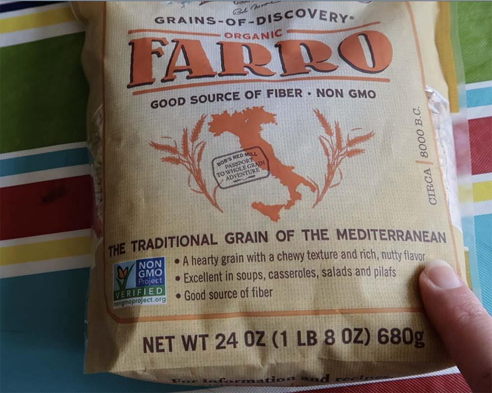 bag of farro