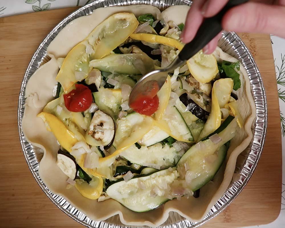 Arranging the vegetables