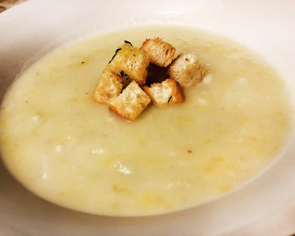 Potato Leek Soup close up