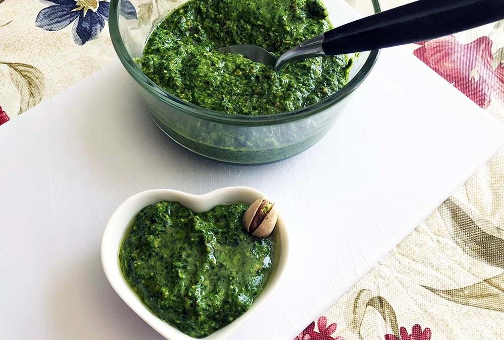 Dandelion Pistachio Pesto Sauce