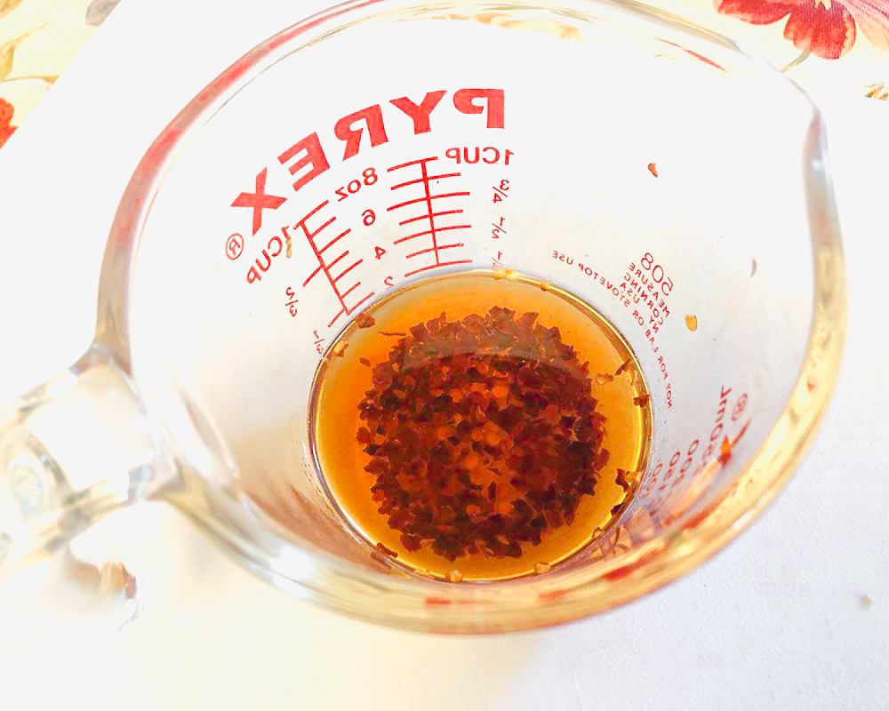 soaking red pepper flakes in vodka