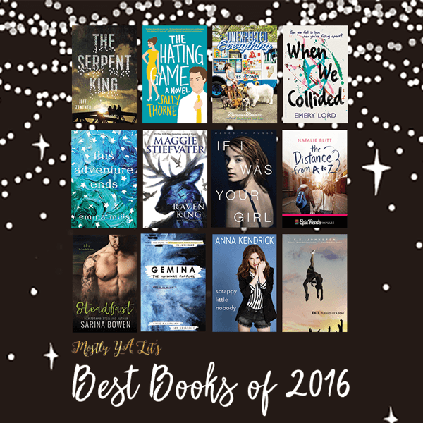 GIVEAWAY: Mostly YA Lit's Best Books of 2016 | Top Ten Tuesday