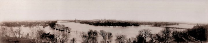 1913 panorama view from the hill where DAI now stands