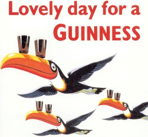 Guinness advertisement with toucans