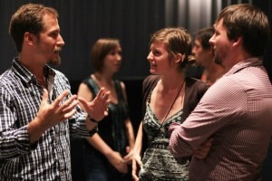Networking and film talk at 2012 Festival