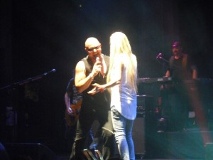 Sass Jordan joins Geoff Tate onstage to sing the part of Sister Mary