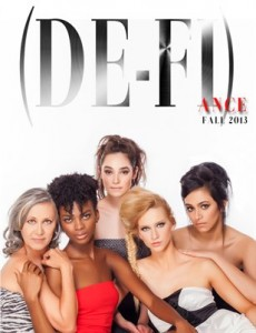 The award winning issue of (DE-FI)ance Magazine can be purchased on our website.  Models from L-R: Irene Smallwood-Bosma, Aube Jolicieur, Monica Gonzalez, Keilha Jude, and Jasmine Kashani Photographer: Lamar Pacley MUA: Angelica Ross Hair Stylist: Stacia McVey