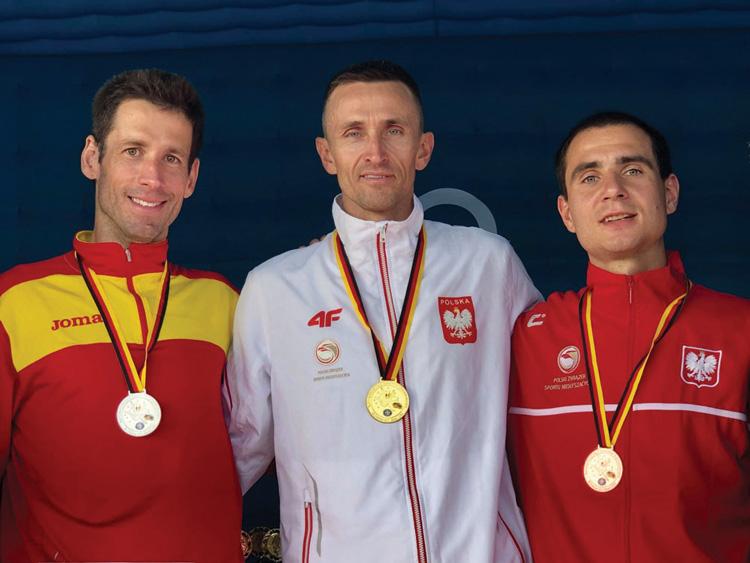 Rafael Martínez, subcampeón de Europa de Maratón para sordos
