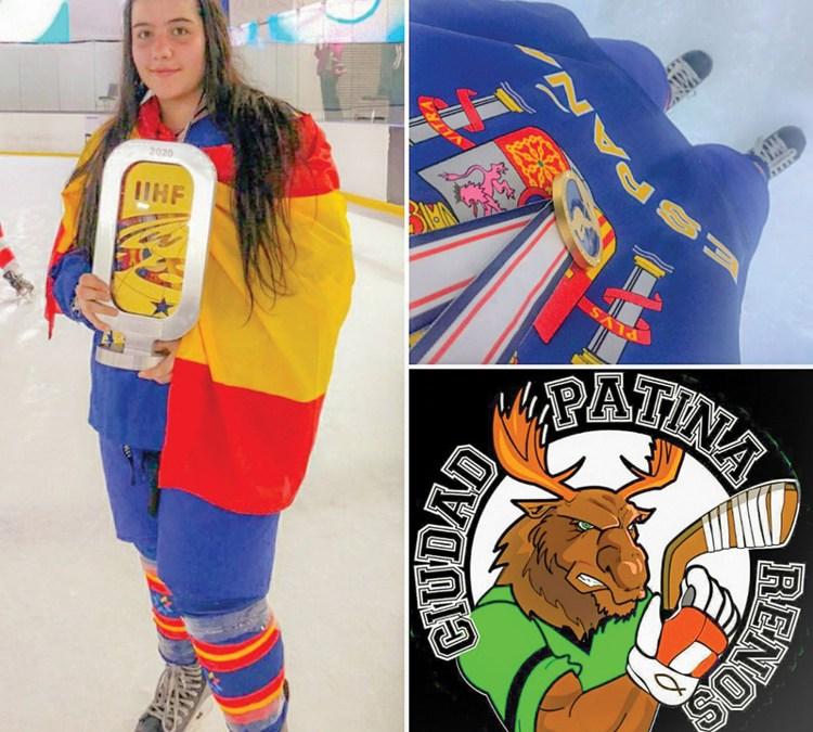 Sofía Argote, primera mostoleña en ganar un Mundial de hockey hielo