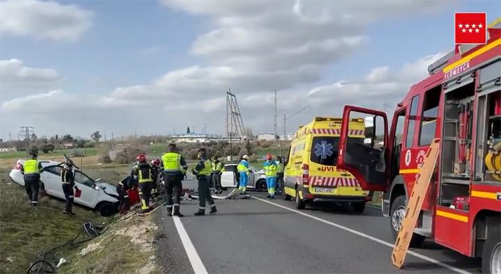 Un hombre de 80 años y una mujer de 79 fallecen en un accidente de tráfico en Móstoles