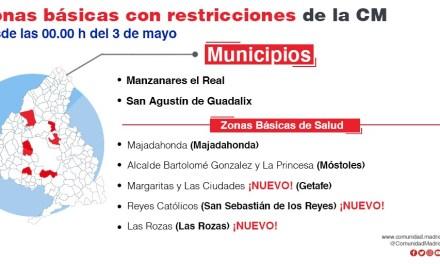 Se mantienen las restricciones hasta el 9 de mayo en las ZBS de Alcalde Bartolomé González y La Princesa