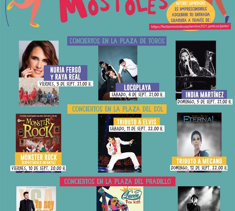 India Martínez y Nuria Fergó, protagonistas musicales de las Fiestas de Móstoles