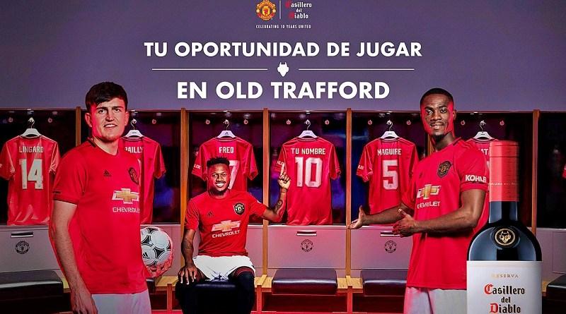 Casillero del Diablo invitará a seis chilenos a jugar un partido de fútbol en el estadio Old Trafford, en Manchester