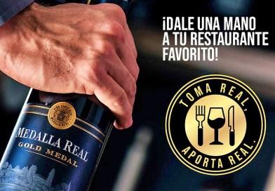 """Con el fin de ayudar a los restaurantes a enfrentar el difícil escenario producto de la pandemia, Medalla Real de Viña Santa Rita lanzó una campaña de apoyo. Denominada """"Toma Real, Aporta Real"""""""