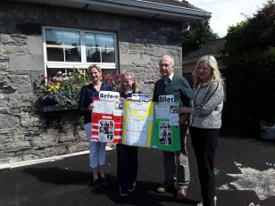 Photo includes Gail Waters, Principal of St. John's, Helen Whitney of Longford Credit Union and Tom Dooley
