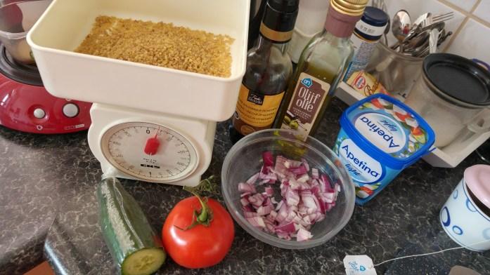 healthy bulgur salad ingredients