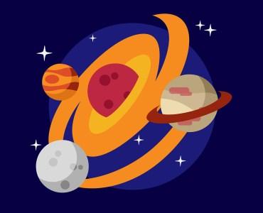 illustration of space solar system