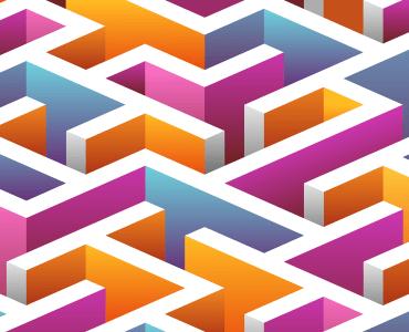 Isometric seamless Maze pattern. by sukmaraga