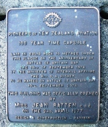 bronze plaque for MOTAT time capsule 1976