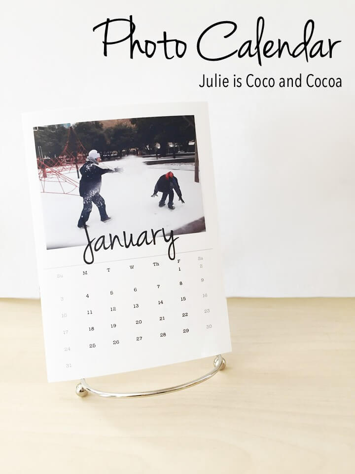 calendar gifts, photo calendar