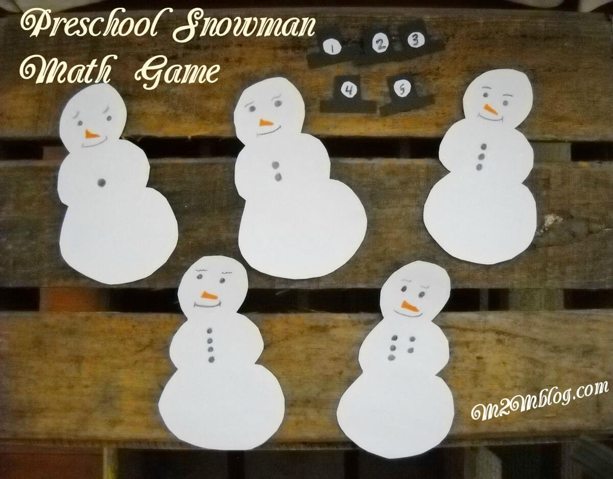 Snowman Preschool Math Game