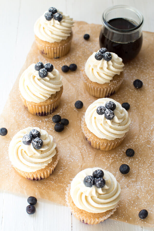 cupcake ideas, blueberry recipes