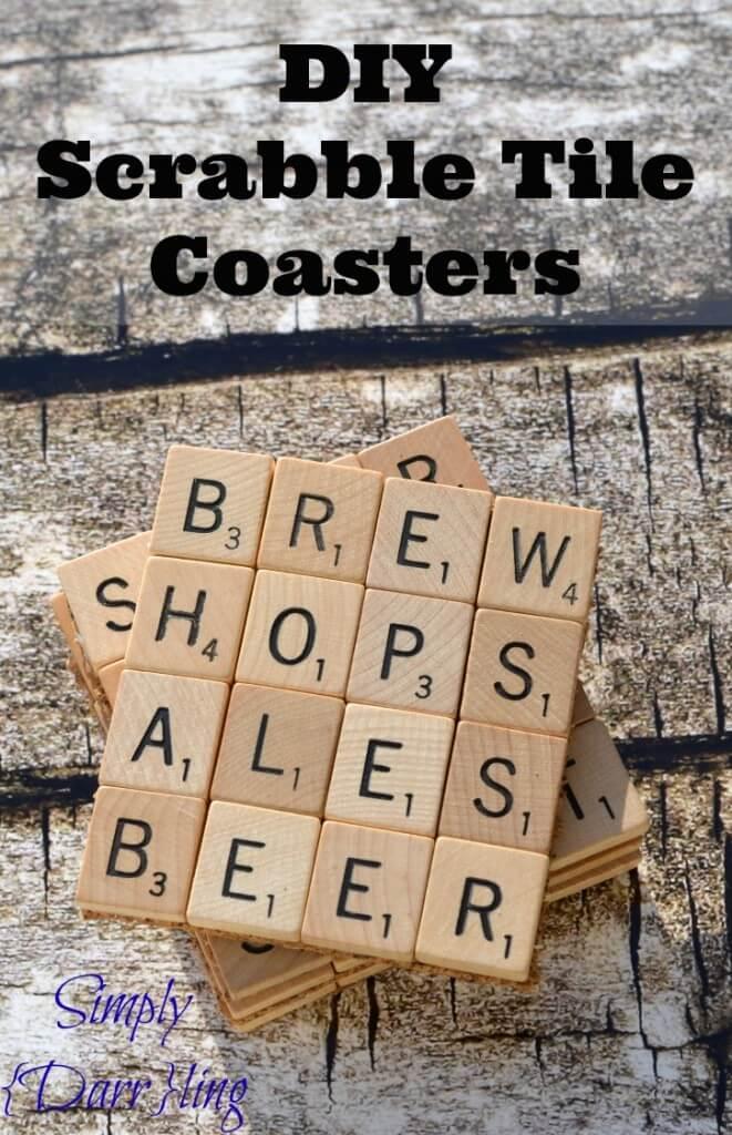 scrabble gits, coaster ideas, DIY coasters